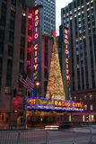 Radio City Music Hall at Chrismas Stock Photos