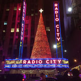 Radio City Music Hall. At Christmas royalty free stock images