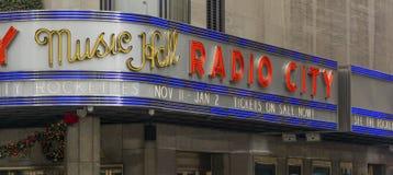 Radio City Music Hall exterior Stock Photo