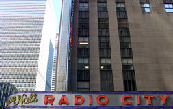 Radio City Music Hall, Manhattan, New York City. Royalty Free Stock Photos