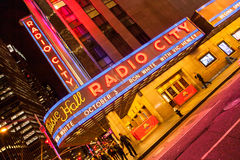 Radio City Music Hall, Manhattan, New York, USA Royalty Free Stock Photography