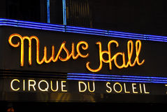 Radio City Music Hall Marquee, NYC Royalty Free Stock Photography