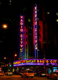 Radio City Music Hall neon sign Stock Image