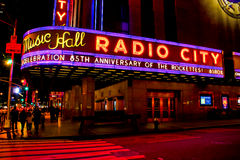 Radio City Music Hall neon sign Stock Photo