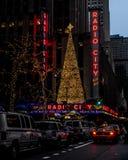 Radio City Music Hall neon sign stock photography