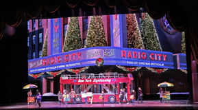 Radio City Music Hall, New York City. 2014 Christmas Spectacular show with Rockettes stock image