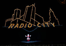 Radio City Music Hall, New York City. 2014 Christmas Spectacular show with the Rockettes and Santa Claus royalty free stock image