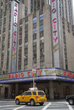 Radio City Music Hall in New York City. Vertically. Royalty Free Stock Photography