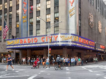 The Radio City Music Hall in New York. The Radio City Music Hall presenting the America's got talent show Royalty Free Stock Photos