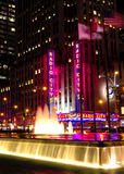 Radio City Music Hall at night Royalty Free Stock Image