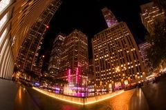 Radio City Night Life, Rockefeller Plaza royalty free stock images