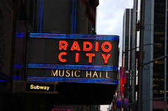 Radio City Music Hall Sign Royalty Free Stock Image