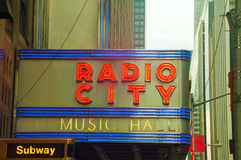 Radio City Music Hall sign Stock Photos