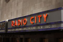 Radio city sign , New York City Royalty Free Stock Photography