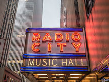 The Radio City in Winter Stock Photography