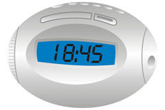 Radio clock vector illustration