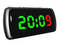 Radio clock. With 2009 new year numbers Stock Photo