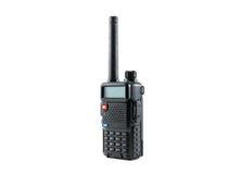 Radio communication. Black radio communication on white background Stock Images
