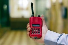 Radio communication Stock Image