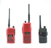 Radio communication. Red radio and black radio communication on white background Stock Photography