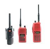 Radio communication. Red radio and black radio communication on white background Royalty Free Stock Image
