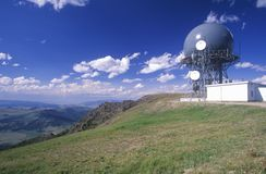 Radio communication tower, MT Royalty Free Stock Photography