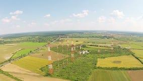 Radio communications network stock video footage