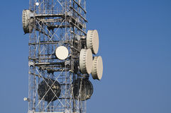 Radio Communications Tower Royalty Free Stock Photography