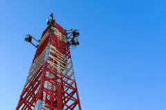 Radio communications tower Stock Image