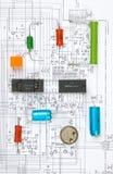 Radio componenten stock afbeeldingen