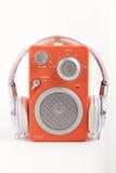 Radio con los auriculares imagen de archivo libre de regalías