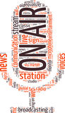 Radio concept  word cloud Stock Photo
