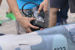 Radio control jet plane Stock Photography