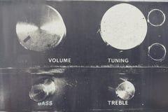 Radio control knobs, buttons. Stock Photos