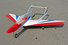 Radio control toy aircraft with electric motor Royalty Free Stock Photos