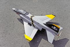 Radio control toy aircraft with electric motor Royalty Free Stock Image