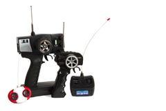Radio-control for toy car. Copy-space Stock Photos
