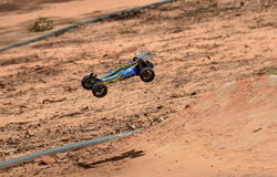 Radio controlled buggy car model in race Stock Photography