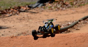 Radio controlled buggy car model in race Royalty Free Stock Image