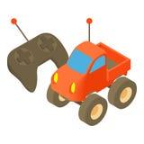 Radio-controlled car icon, cartoon style Royalty Free Stock Photos