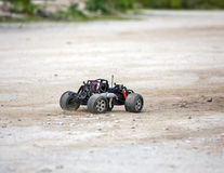 Radio controlled car model in race Stock Photo