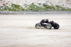Radio controlled car model in race Royalty Free Stock Photos