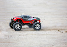 Radio controlled car model in race Royalty Free Stock Image