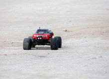Radio controlled car model in race Stock Photos