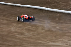 Radio controlled car at race track Stock Photography