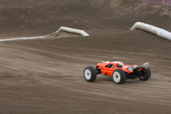 Radio controlled car at race track Royalty Free Stock Photo