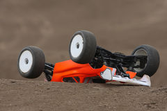 Radio controlled car at race track Royalty Free Stock Photos