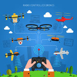 Radio-controlled Drones Concept Stock Images
