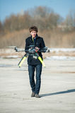 Radio controlled helicopter Royalty Free Stock Image