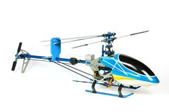 Radio Controlled Helicopter model carnopy. Radio Controlled Helicopter model canopy isolated on white Royalty Free Stock Photos